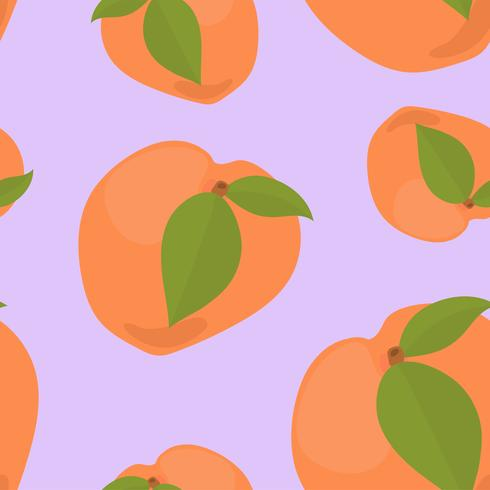 Colorful hand drawn apricot pattern
