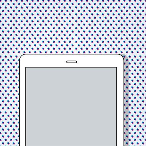 Illustration of a digital tablet