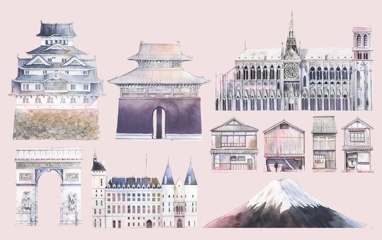 Conjunto de vectores emblemáticos famosos