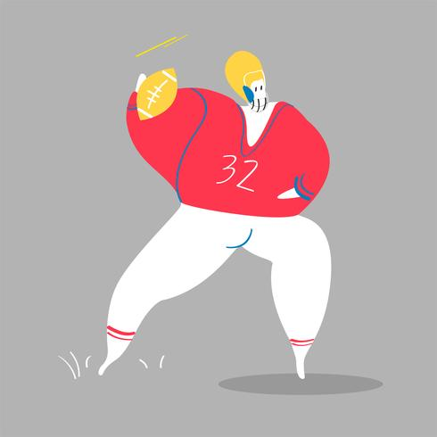 Character illustration of an American football player