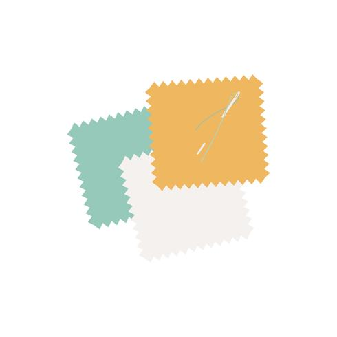 Kleurrijke flarden van de illustratie van het stoffenpictogram