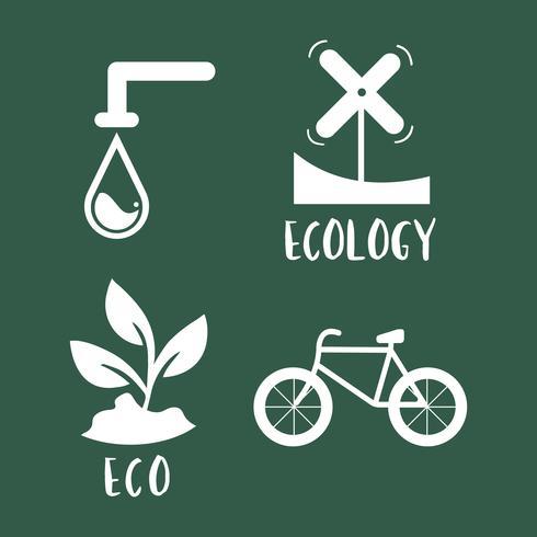 Milieu instandhouding symbool ingesteld illustratie