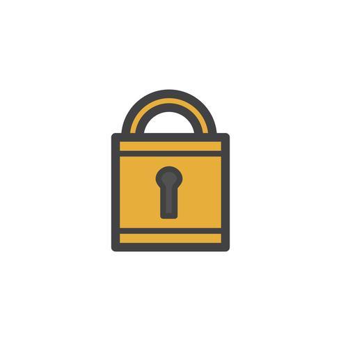 Ilustração, de, um, padlock
