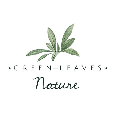 Green leaves nature logo vector