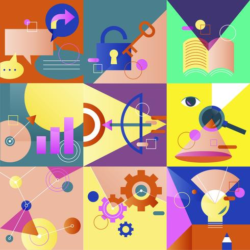 Illustration jeu de stratégie d'entreprise