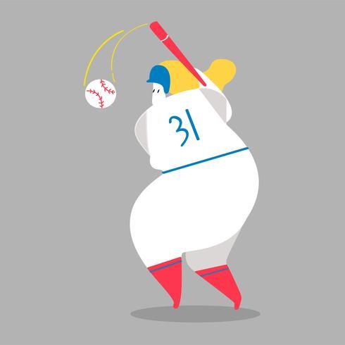 Ilustración de personaje de un jugador de béisbol