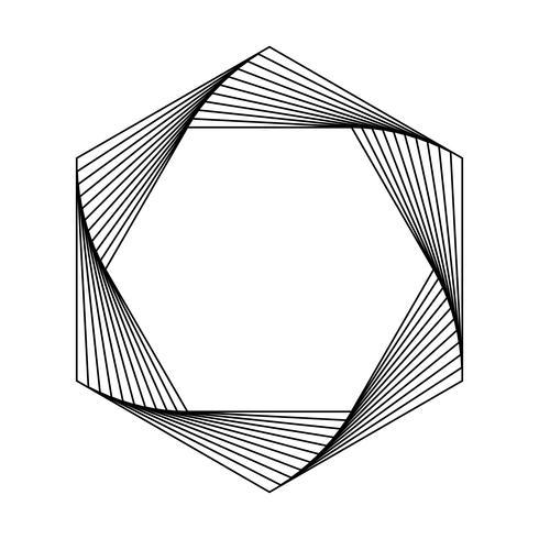 Hexágono abstracto elemento geométrico vector