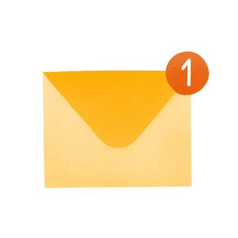 Nuovo vettore dell'icona di media sociali della posta