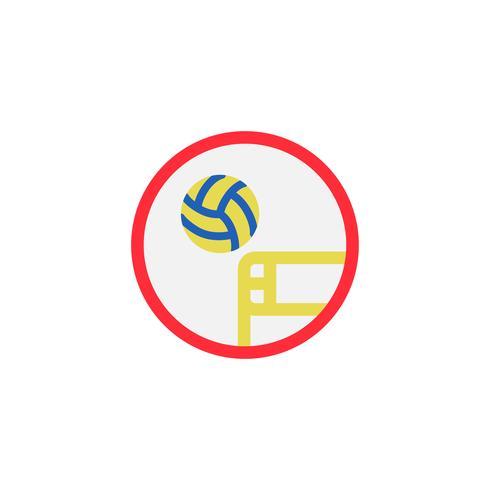 Illustration av volleybollikonen