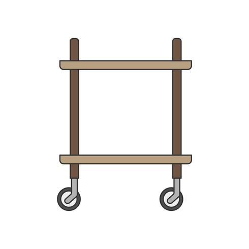 Illustrazione di un carrello da cucina