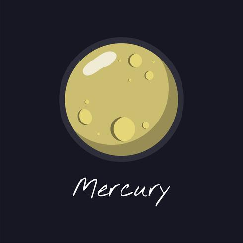 Planet Mercury-Vektor