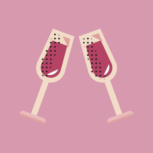 Conceito de evento de celebração de ícone de champanhe