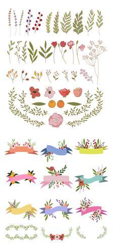 Vetor de conjunto de banner floral