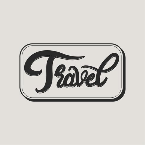 illustration de l'icône de voyage concpet