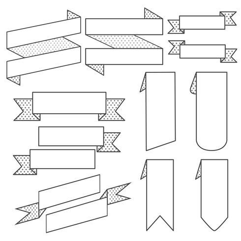 Conjunto de vetores de banner da faixa de opções