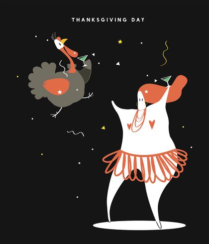 Illustration de concept de journée mondiale de thanksgiving