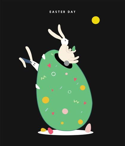 Happy Easter day concept illustration