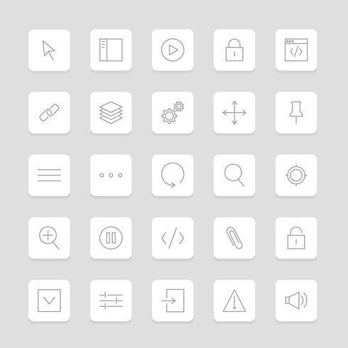 Vector conjunto de ícones do site