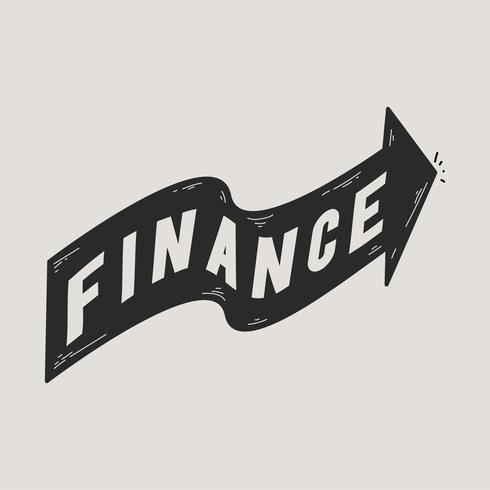 Illustration of finance banner icon