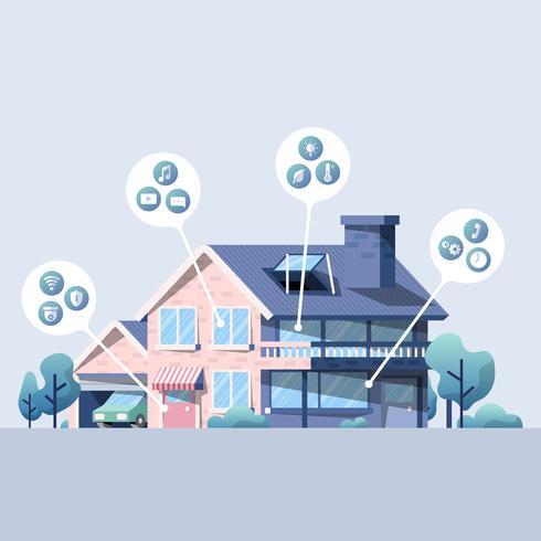 Smart hem vektor pack med ikoner