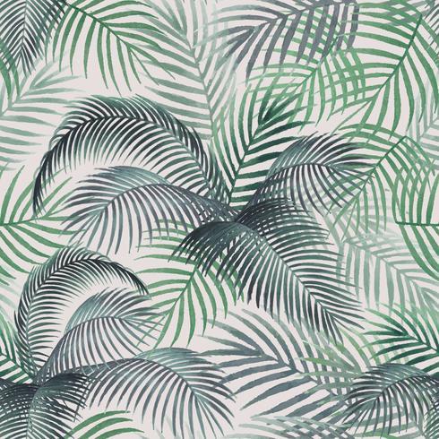 Illustration de maquette motif feuilles de palmier