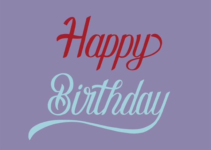 Illustrazione di progettazione di tipografia di buon compleanno