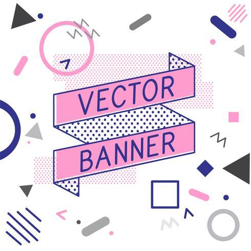 Ribbon banner vectors design