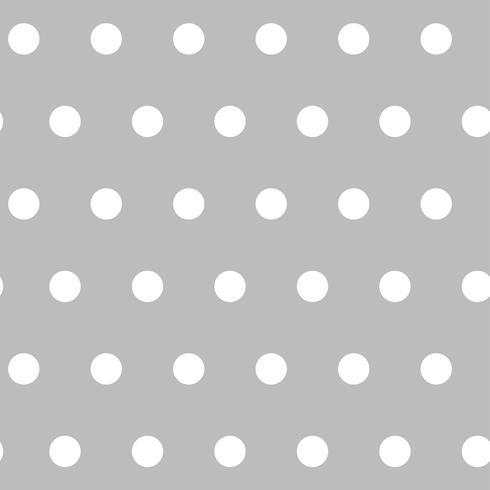 Vector de patrón de lunares transparente gris y blanco