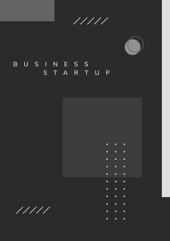 Minimal Memphis business start-up poster vector