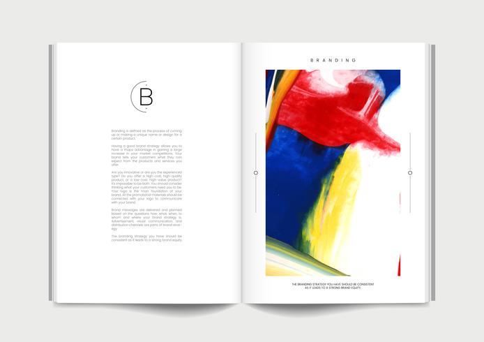 Magazine med branding idéer