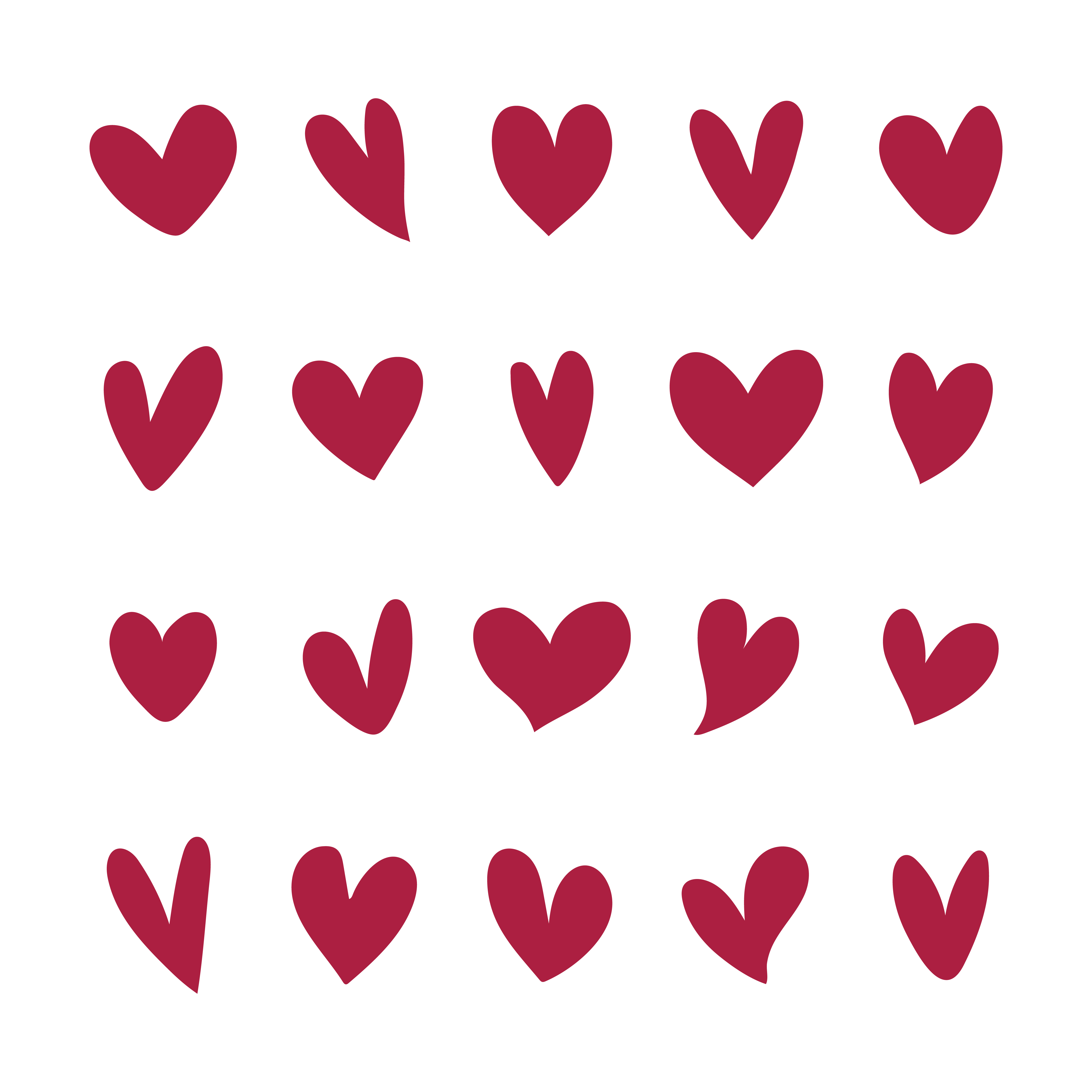 Collection of illustrated heart icons - Download Free ...