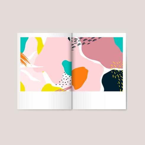 Färgglada Memphis design magazine vektor