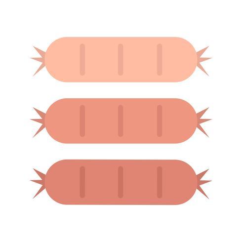 Tres sabrosas salchichas ilustración gráfica