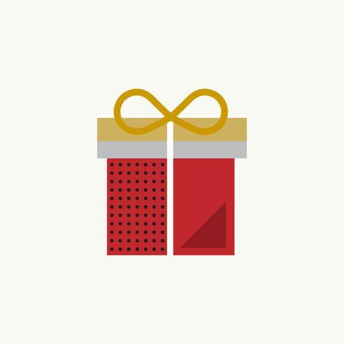 Concetto di celebrazione dell'icona del presente del regalo