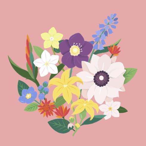 Illustration d'un bouquet de fleurs