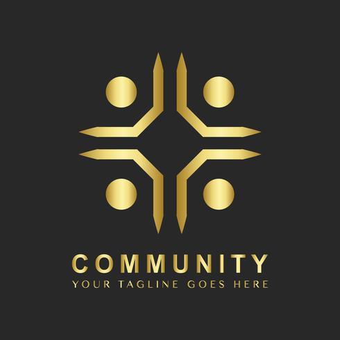 Community branding logo design sample