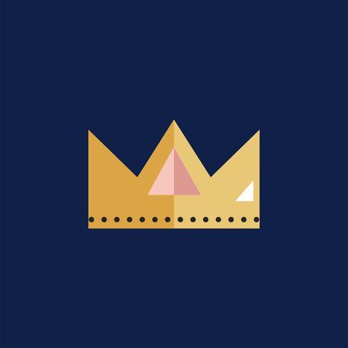 Vetor de ícone de coroa