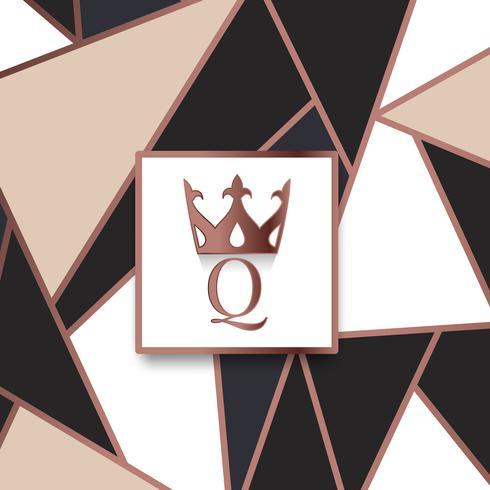 Vecteur de design de marque Premium Q