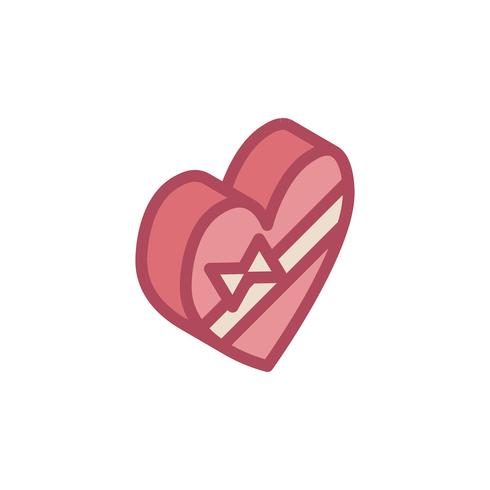 Illustration of valentine's icons vector