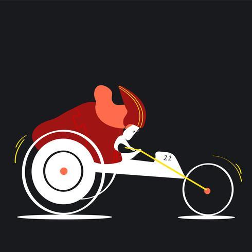 Illustrazione di handbiking di carattere femminile