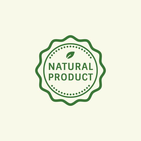 Natural product stamp badge illustration