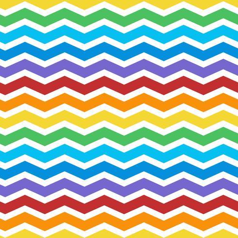 Vector de patrón de zig zag colorido transparente