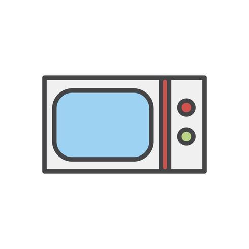 Illustration av en mikrovågsugn