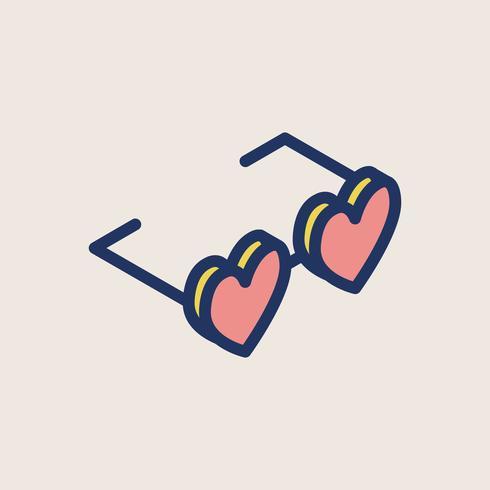Illustration av valentins ikoner