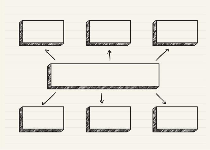 Graphique griffonné sur un bloc-notes