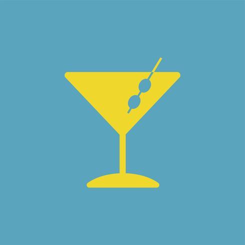 Martini cocktails glazen pictogram illustratie