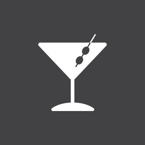 Martini-Cocktailglasikonenillustration