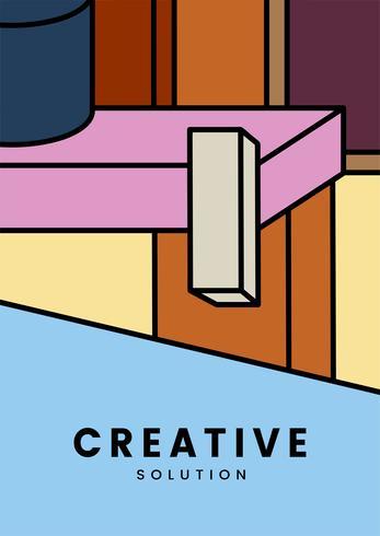 Kreatives buntes Geometriegrafikdesign