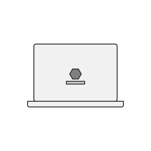Illustration of a laptop