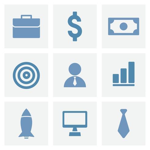 Samling av affärer ikoner illustration